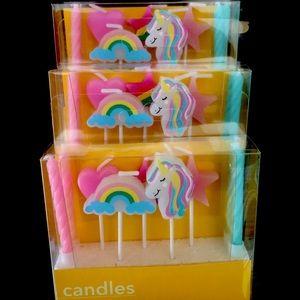 NIB 3 Sets of Unicorn Variety Candles
